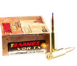 20 Rounds of 6.5 Creedmoor Ammo by Barnes VOR-TX – 120gr TTSX BT