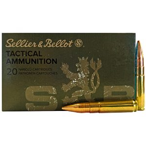 300 AAC Blackout 200gr FMJ Sellier & Bellot Ammo Box (20 rds)