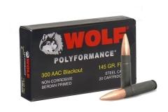 300 AAC Blackout WPA (Wolf) 145gr FMJ Ammo, 500rd Case