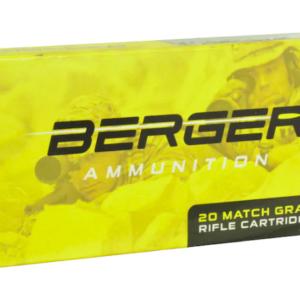 Berger Match Grade Ammunition 6.5 Creedmoor 130 Grain Hybrid OTM Tactical Hollow Point Box of 20
