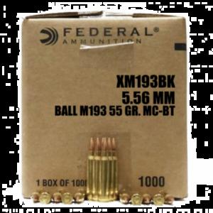 Federal 5.56 MM 55 GR. M193 BT 1000 RDS