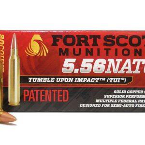 Fort Scott Munitions 5.56 NATO 62 GR TUI Solid Copper Spun 20 ROUNDS