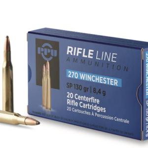 PPU, .270 Winchester, SP, 130 Grain, 20 rounds