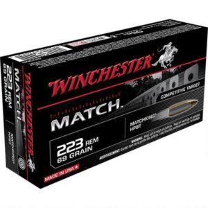 Winchester Match .223 Rem Ammunition 20 Rounds, HPBT, 69 Grains