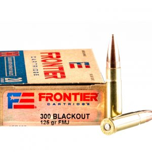 20 Rounds of .300 AAC Blackout Ammo by Hornady Frontier – 125gr FMJ