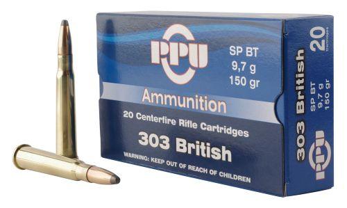 Product Information Caliber/Gauge303 British CasingBrass Bullet TypeSoft Point Box Qty20 PPR$1.50/round