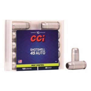 CCI #9 Pistol Shot Shells, .45 ACP, 120 Grain, 10 Rounds