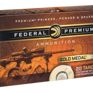 Federal Premium Gold Medal Berger Ammunition 6.5 Grendel 130 Grain Berger Hybrid Open Tip Match