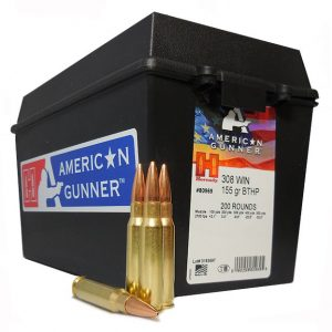HORNADY 308 WIN 155 GR Boat Tail Hollow Point 200 ROUNDS W/ AMMO CAN