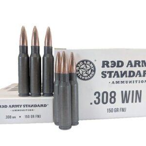 Red Army Standard 308 Win 150 GR FMJ Steel Case
