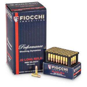 Fiocchi, .22LR, 40 Grain, 500 Rounds