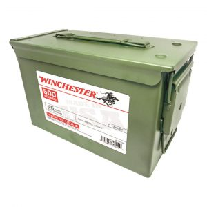 Winchester, USA, .45 ACP, FMJ, 230 Grain, 500 Rounds with Ammo Can