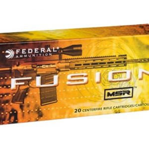 Federal Fusion MSR Ammunition 6.5 Grendel 120 Grain Bonded Spitzer Boat Tail Box of 20