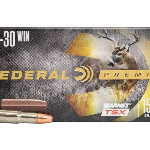 Federal 30-30 WIN 150 gr Barnes TSX Hollow Point 20/Box