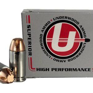 Underwood Ammunition 9x18mm (9mm Makarov) 115 Grain Hard Cast Lead Flat Nose Box of 20